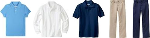 shirts and pants to wear to school